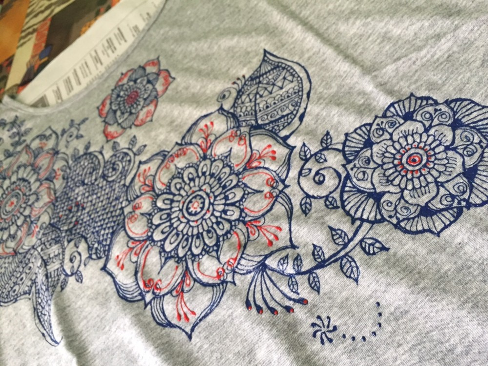 夏に向けて、ヘナ風Tシャツ